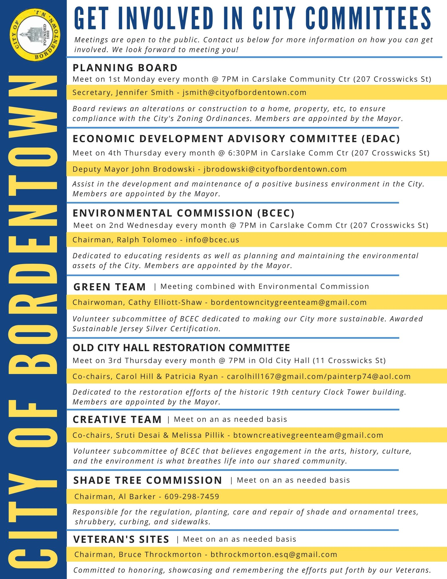 Bordentown City Appointments